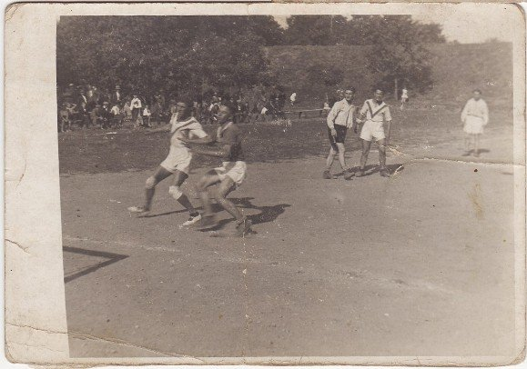 Momenta z turnaje v roce 1928 - František Smékal první zleva